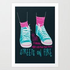 Streets on fire Art Print
