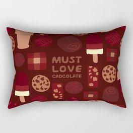 Must Love Chocolate Rectangular Pillow