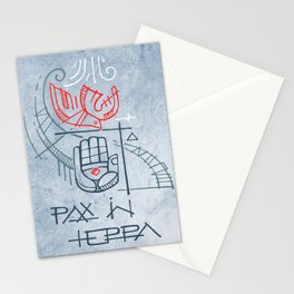 Religious christian symbols and phrase Stationery Cards