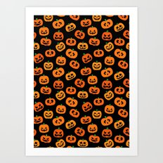 Jack-o'-Lanterns Art Print