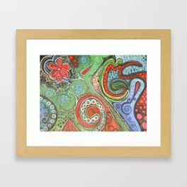 octopaisley Framed Art Print