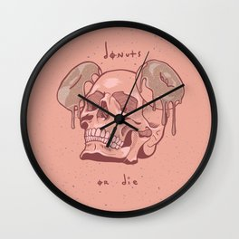 Donuts or Die. Wall Clock