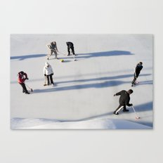Curling Canvas Print