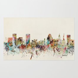 baltimore maryland skyline Rug
