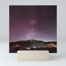 Milky Way Landscape Mini Art Print