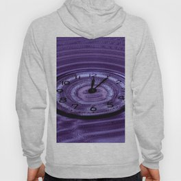 Hands of Time Purple Rippling Water Art Motif Hoody