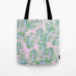 Fern Leaves Pink Tote Bag