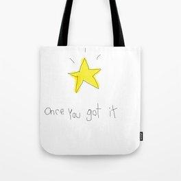 kid wanna say something... Tote Bag