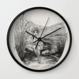 Respite by the Pond Wall Clock