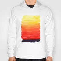 sunset Hoodies featuring Sunset by Timone