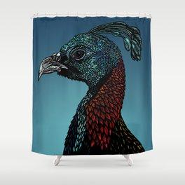 Exotic Birds - Himalayan Monal Shower Curtain