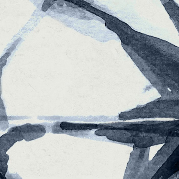 Shibori Starburst Indigo Blue on Lunar Gray Leggings
