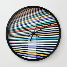 Colored Lines On The Wall Wall Clock