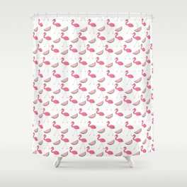 Flamingos and Watermelons Shower Curtain
