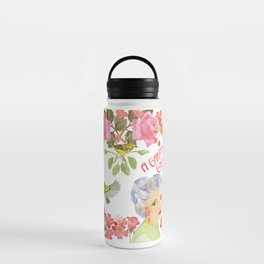 Warblers Visit Rose's Garden Trellis Water Bottle