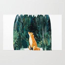 Snow Globe Fox Rug