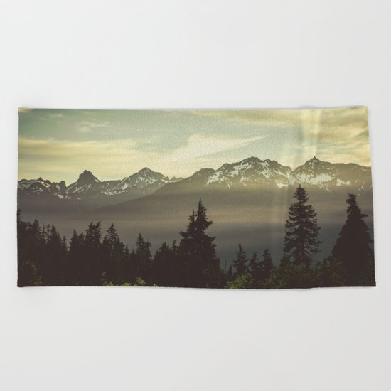 Morning in the Mountains Beach Towel