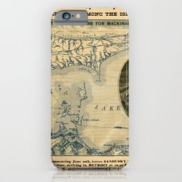 Map Of Lake Erie 1876 iPhone Case