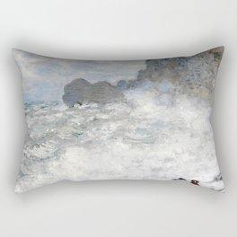 1883-Claude Monet-Rough weather at Étretat-65 x 81 Rectangular Pillow