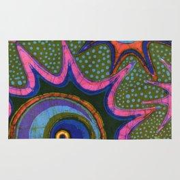 Starburst and polkadots batik Rug