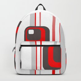 Vintage Retro Graphic white Backpack