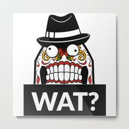 Scary Face - WAT? Metal Print