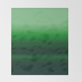 Emerald Green Stripe Design Throw Blanket