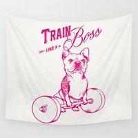 boss Wall Tapestries featuring Train Like A Boss by Huebucket