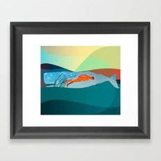 In the water under the sea Framed Art Print