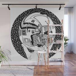 Escher - Self-portrait on a sphere Wall Mural