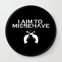 Aim to Misbehave V2 Wall Clock