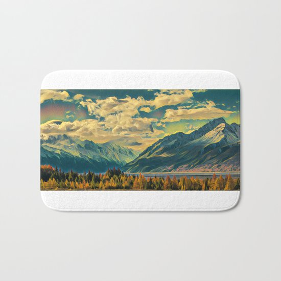 Cabin View Wilderness Bath Mat