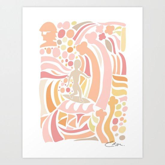 Pink July Art Print