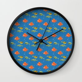 Just Some Pacific Fish Pattern Wall Clock
