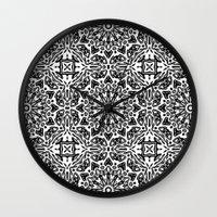 oriental Wall Clocks featuring Oriental Pattern by LebensARTdesign