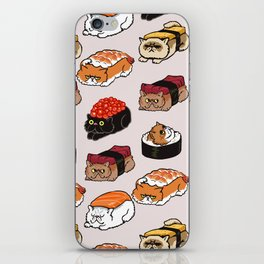 Sushi Persian Cat iPhone Skin