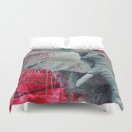 A Shade of Red Duvet Cover