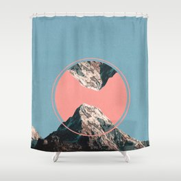Sunrise at the Mountains Shower Curtain