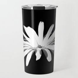 Black and White Flower Travel Mug