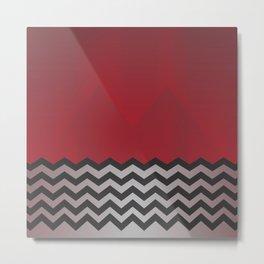 Twin Peaks - minimalist Red Room Metal Print