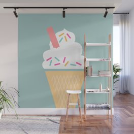 Ice Cream (Mint) Wall Mural