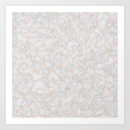 Marble With Party Art Print