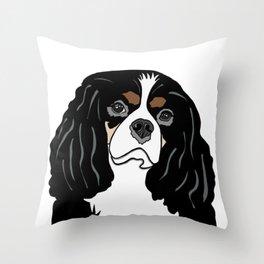 Daisy the Cavalier King Charles Spaniel Throw Pillow