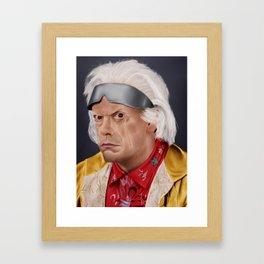 "Emmett ""Doc"" Brown Framed Art Print"