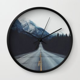 Mountain Road #forest Wall Clock