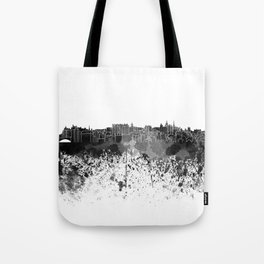 Edinburgh skyline in black watercolor Tote Bag