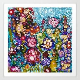 Alcohol Ink Floral Print Art Print