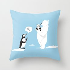 How little Pandas are born Throw Pillow