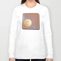 asian Long Sleeve T-shirts featuring Asian Pear by Lyssia Merrifield