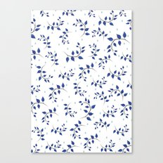 Botanical indigo pattern Canvas Print